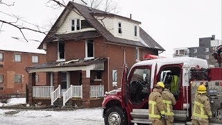 Fire Chief Derrick Clark says two adults and two children have been killed in a house fire in Oshawa, Ontario, that also sent three others to hospital. A neighbour says she heard a loud bang followed by panicked screams from the house. (The Canadian Press)