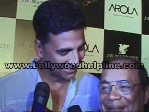 Akshay Kumar At The Opening Of Arola Restaurant ....