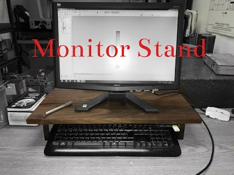 Monitor stand from pallet wood JOPCUSTOM