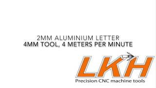 Cutting 2mm thick Aluminium Letters, 4 meters per minute, no coolant