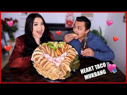 Valentines Day Heart Taco Mukbang!