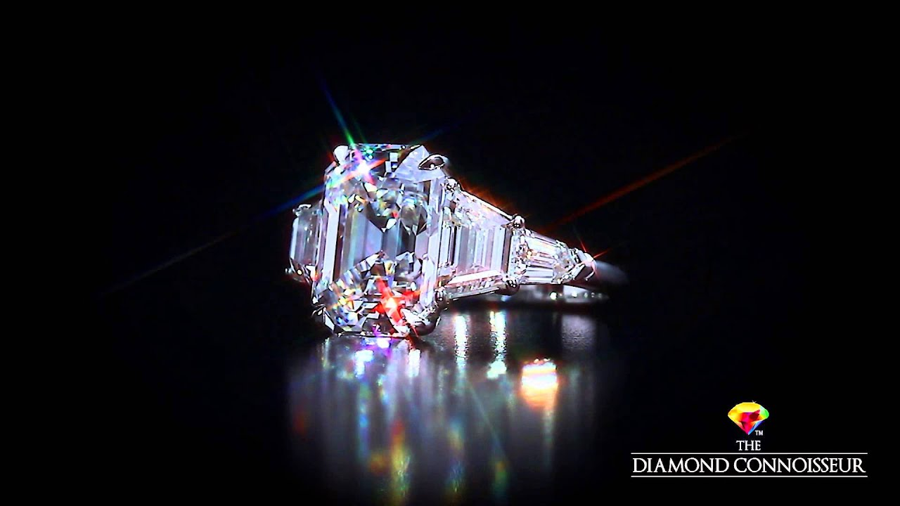 Five Stone Ring Featuring A 5 Carat D Flawless Emerald Cut