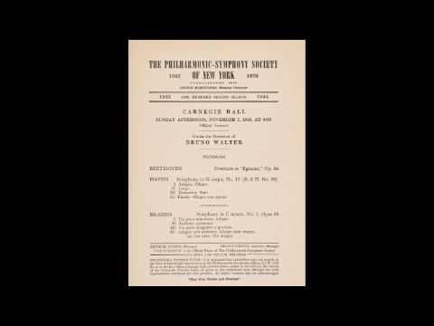 Walter conducts Beethoven - Haydn - Wagner - NYP 1943 (complete concert)