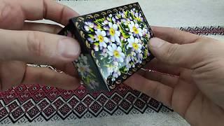 Ukrainian Wooden Petrikov Artistic painting casket jewerly box…
