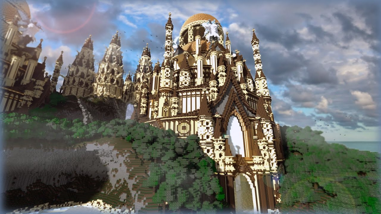 Minecraft tropical sandstone castle youtube for Build a castle house