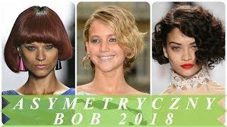 Nowoczesny fryzura bob asymetryczny 2018
