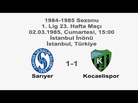 Sarıyer 1-1 Kocaelispor 02.03.1985 - 1984-1985 Turkish 1st League Matchday 23 | Farklı bir pencereden futbol