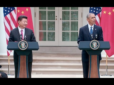 President Obama and the President of the People's Republic of China hold a Joint Press Conference