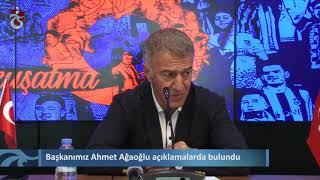 Başkanımız Ahmet Ağaoğlu açıklamalarda bulundu
