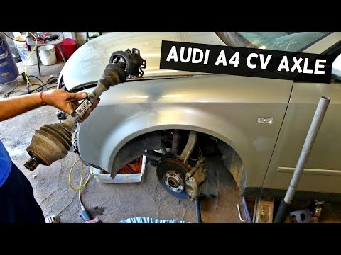 AUDI A4 B6 FRONT CV AXLE SHAFT REPLACEMENT REMOVAL