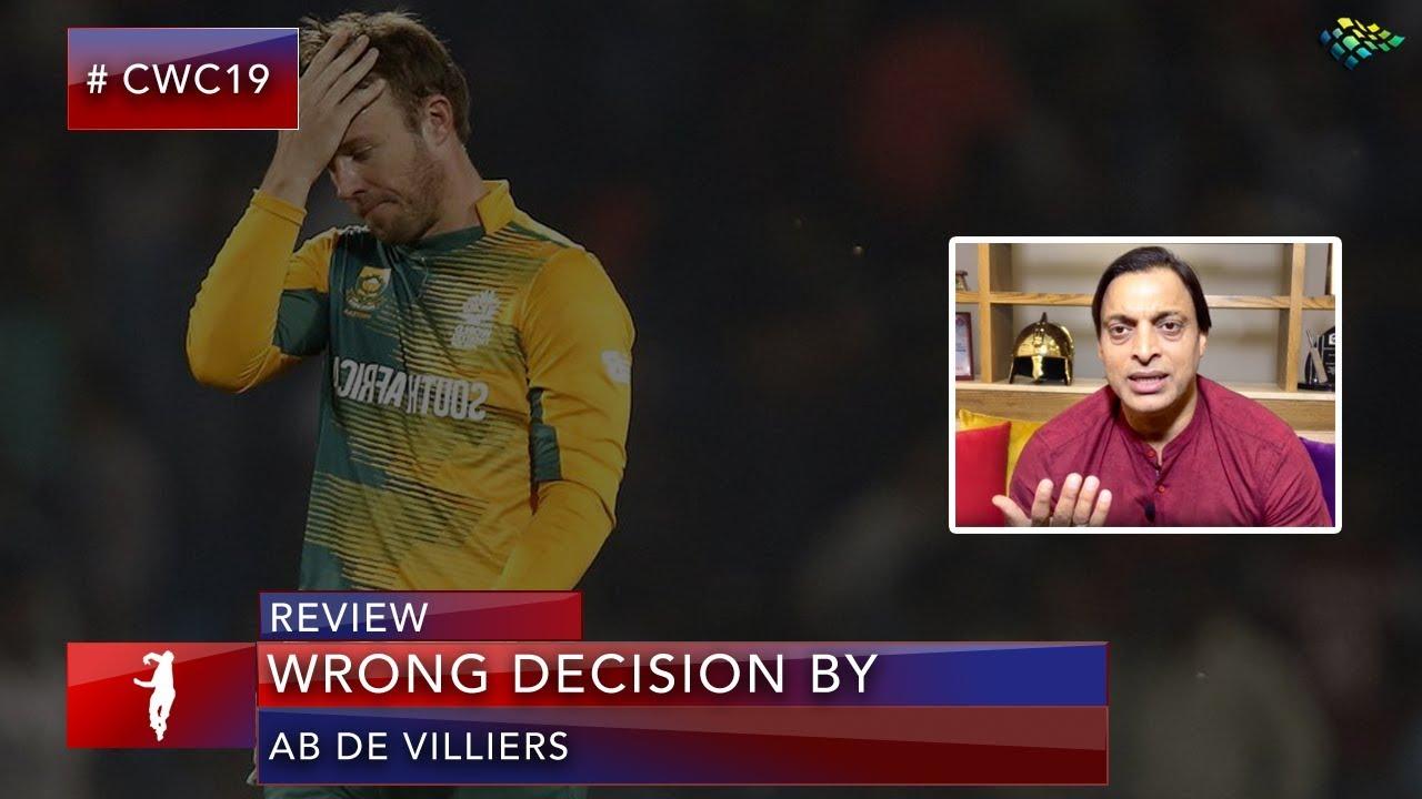 Shoaib Akhtar Lashes out at AB De Villiers!
