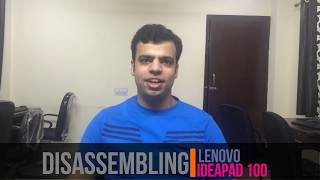 disassembling and upgrading ram of lenovo ideapad 100