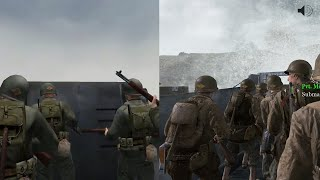 Normandy D-Day: Side by Side Comparison - Medal of Honor Allied Assault vs. Call of Duty 2