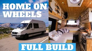 How To Build A Camper Van (Step By Step) DIY Conversion - Off Grid Sprinter
