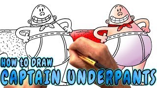 How to Draw Captain Underpants - Easy Drawing Lesson (Narrated)
