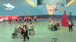 لقاء المنتخب المصري بنادي الحراش الجزائري برسم الدوري الدولي لكرة السلة على الكراسي بأكادير