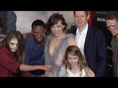 Milla Jovovich, Paul and Ever Anderson 'Resident Evil: The Final Chapter' LA Premiere Red Carpet