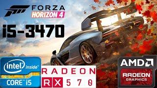 Forza Horizon 4 Ultra   i5-3470   RX 570 8GB   8GB RAM DDR3   1080p Gameplay PC Benchmark