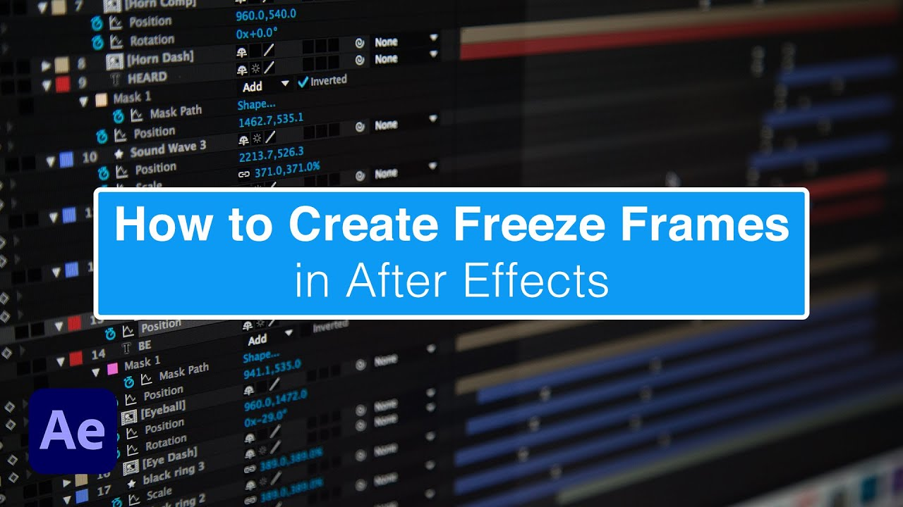 how to add freeze frame in after effects