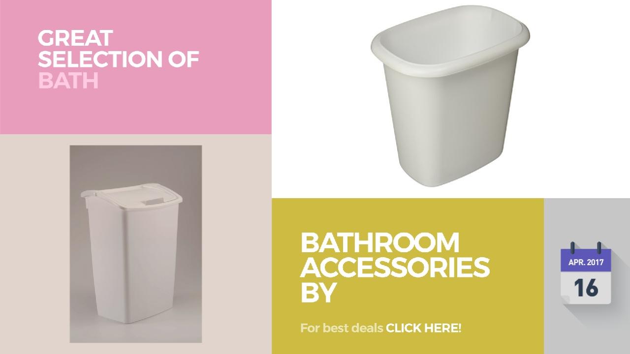 Purple Bathroom Bin Bathroom Accessories By Rubbermaid Great Selection Of Bath