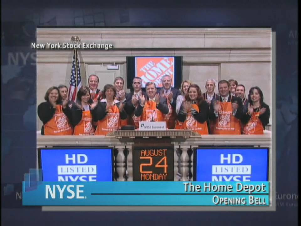 24 August 2009 The Nyse Opening Bell Home Depot Youtube