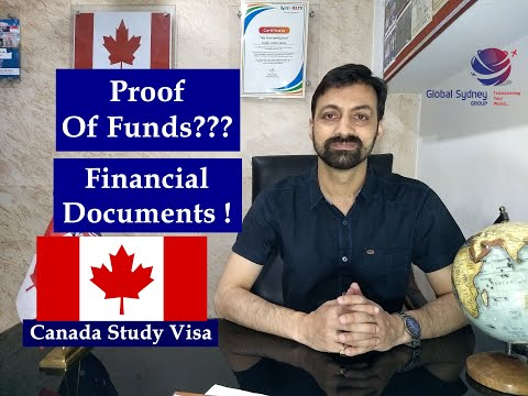 What Proof Of Financial / Funds Documents Is Required For Canada Study Visa???Complete Information.