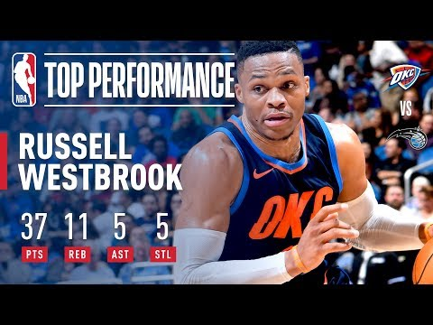 Russell Westbrook Scores 37 Points vs. the Magic | November 29, 2017