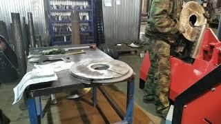 Как изготовить сложные шнековые сегменты из тонкого металла. Difficult thin flights formed easily