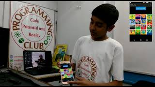 Kid innovator developed an app for Cricket Lovers to know live score