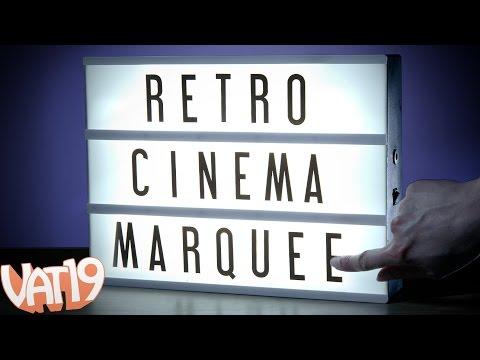 Retro Theater Sign Decoration