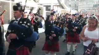 Lockerbie Pipe Band Leaving Edinburgh Castle