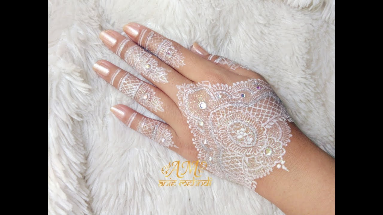 White Henna: Finishing White Henna, Wedding Henna Design #87