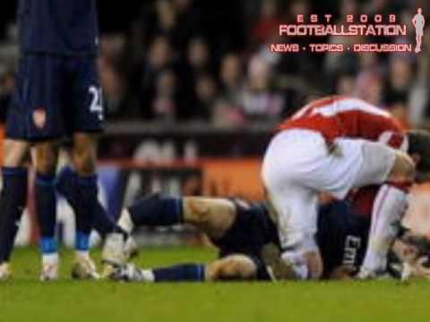 Aaron Ramsey Horror Injury Stoke