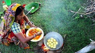 Bangali Recipe Potato & Egg Charchari | Village Traditional Recipes | Village Food
