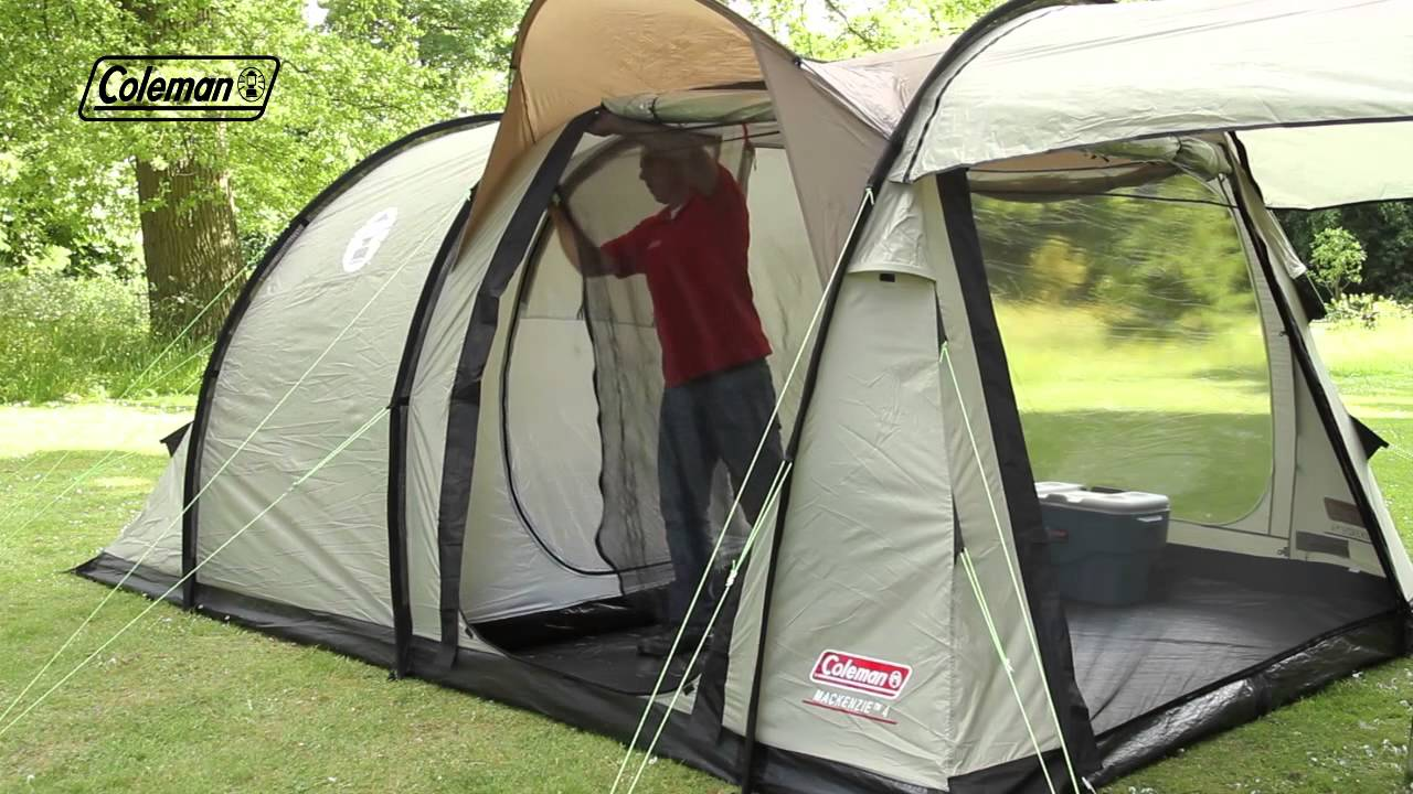 Coleman 174 Mackenzie 4 Family Camping Tent Youtube