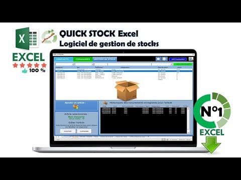 Créer un tableau du gestion des stocks excel très facile. - YouTube