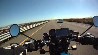 Motorcycle ride from Coronado Island to Imperial Beach California on classic BMW R100RS