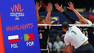 POLAND vs. PORTUGAL - Highlights Men | Week 5 | Volleyball Nations League 2019