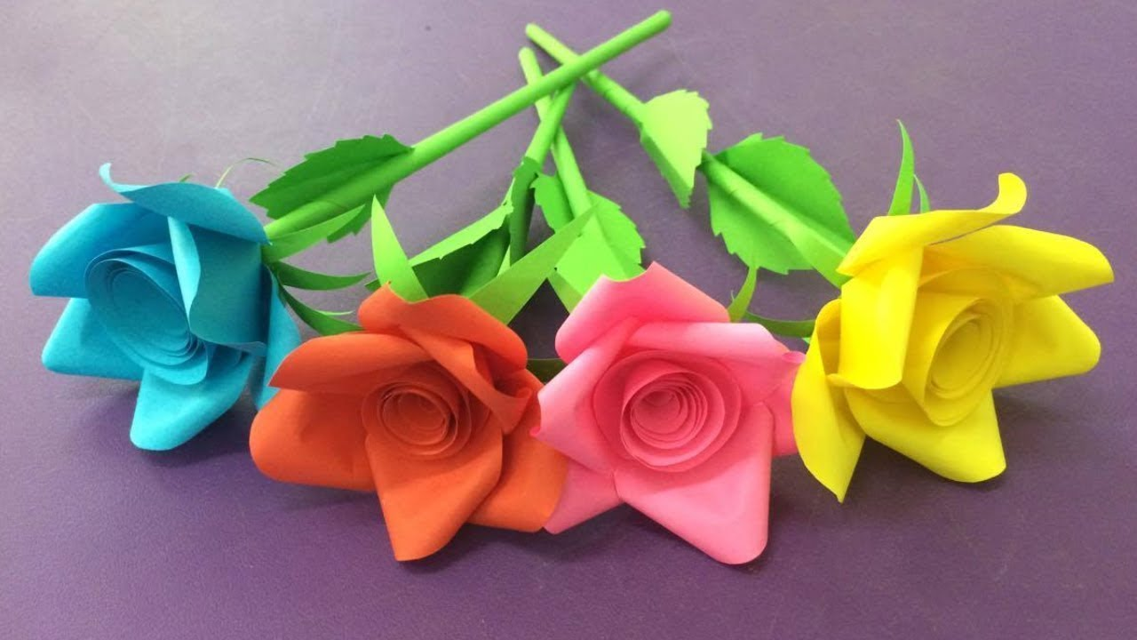 How To Make A Rose Flower With Paper Step By
