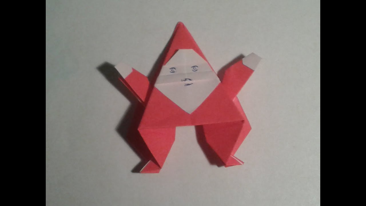 Origami how to make an easy origami santa claus for Make origami santa claus