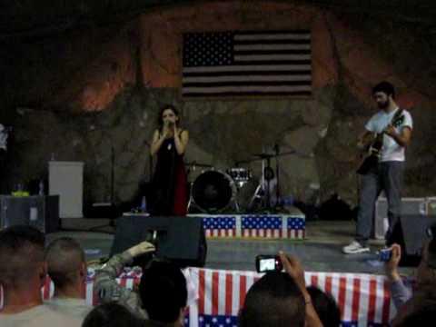 Flyleaf - Broken Wings Acoustic  - The Clamshell, Bagram, Afghanistan - July 6, 2009