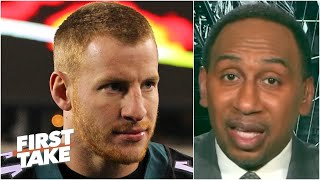 Carson Wentz should be 'sick to his stomach' for the DeAndre Hopkins trade - Stephen A. | First Take