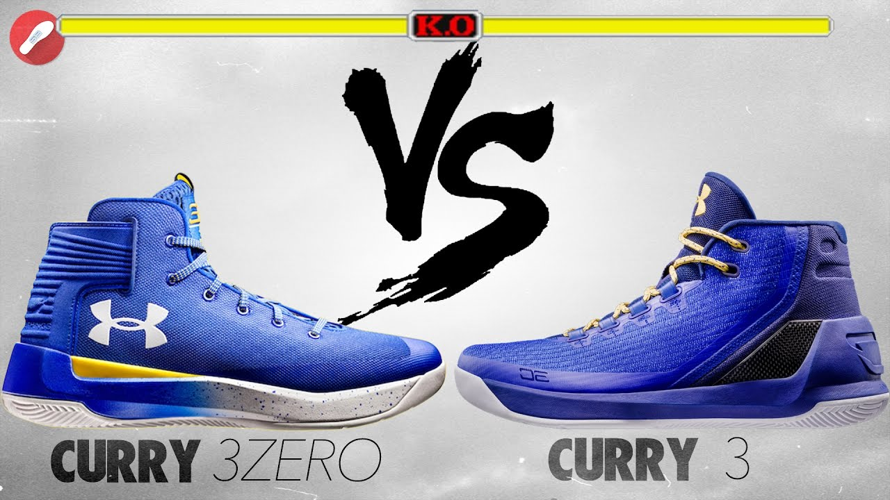 online store 13893 3444b Under Armour Curry 3Zero vs Curry 3!
