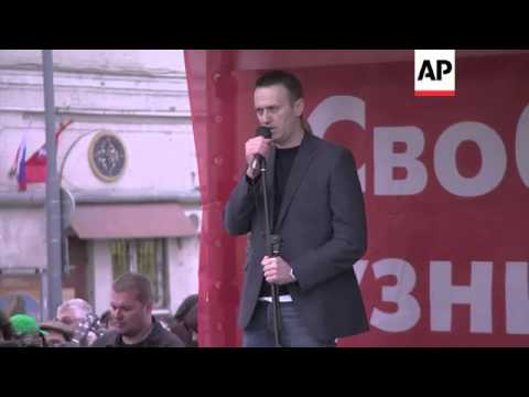 Opposition leader Navalny says Putin must be driven from the Kremlin