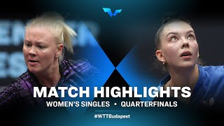 Georgina Pota vs Mariia Tailakova   WTT Contender Budapest 2021 (1/4)