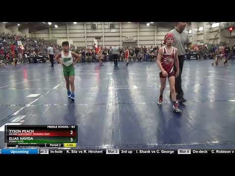 Middle School 83 Tyson Peach Inland Northwest Training Cent Vs Elias Navida Poway Elite