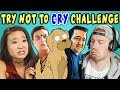 COLLEGE KIDS REACT TO TRY NOT TO CRY CHALLENGE