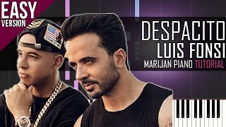 How To Play: Luis Fonsi ft. Daddy Yankee - Despacito   Piano Tutorial EASY + SHEETS