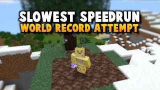 Minecrafts Slowest Speed Run Attempt (Current Record: 3 Hours)