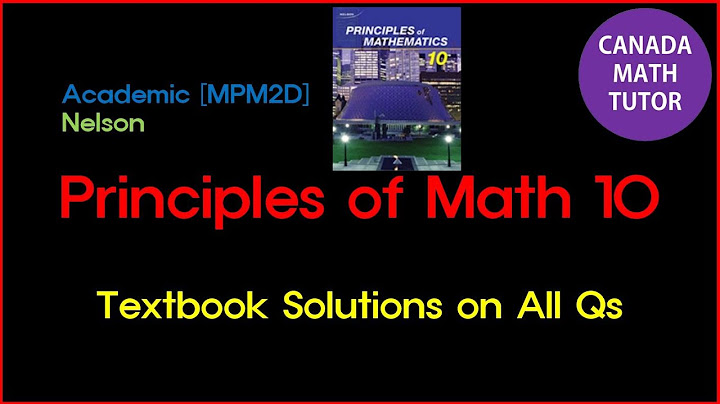 [011] Canada Math10 Nelson Solutions [Page 68-70] [2. Getting Started] MPM2D 캐나다수학